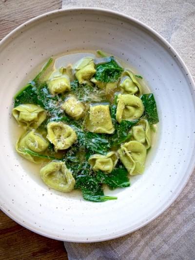 Spinach Tortellini in Brodo