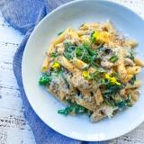 Creamy Broccolini and Ground Turkey Pasta