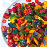 Heirloom Tomato Salad with Basil Oil