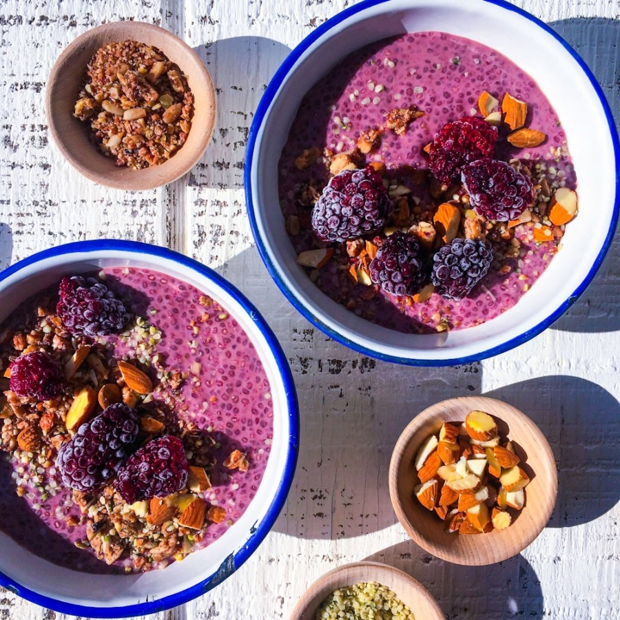 Blackberry and Vanilla Chia Seed Pudding