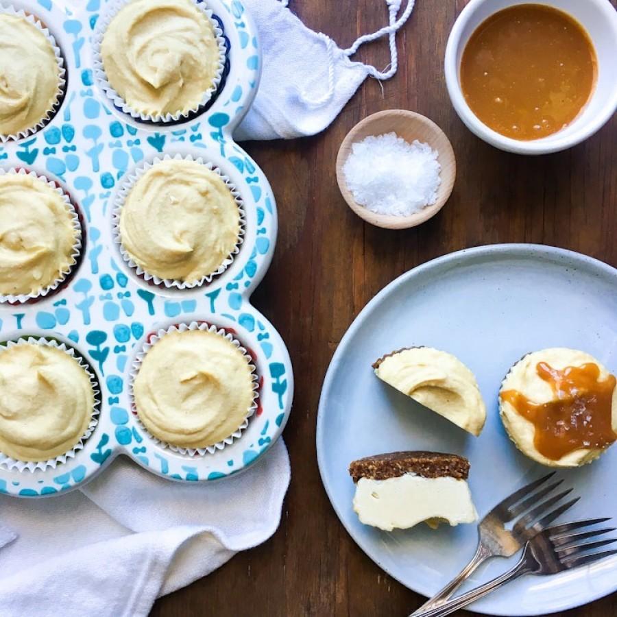 Cashew Cheesecake with a Cinnamon Walnut Crust