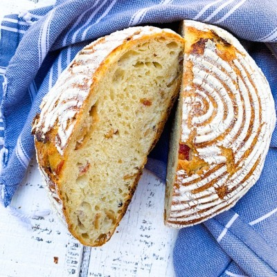 No-Knead Bread with Lardons