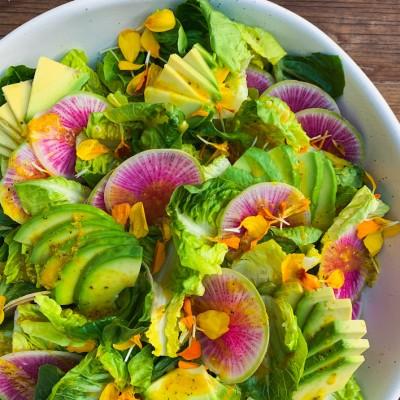 Little Gem Salad with Citrus Turmeric Dressing