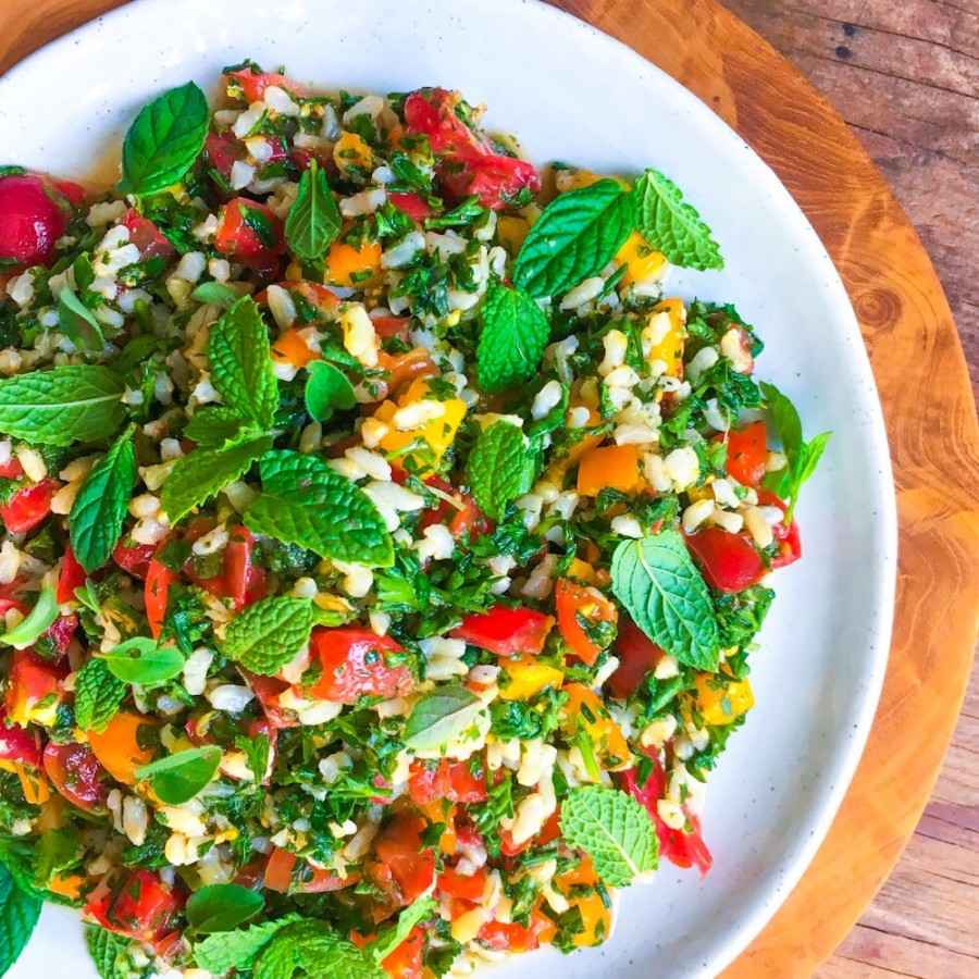 Brown Rice and Heirloom Tomato Tabbouleh