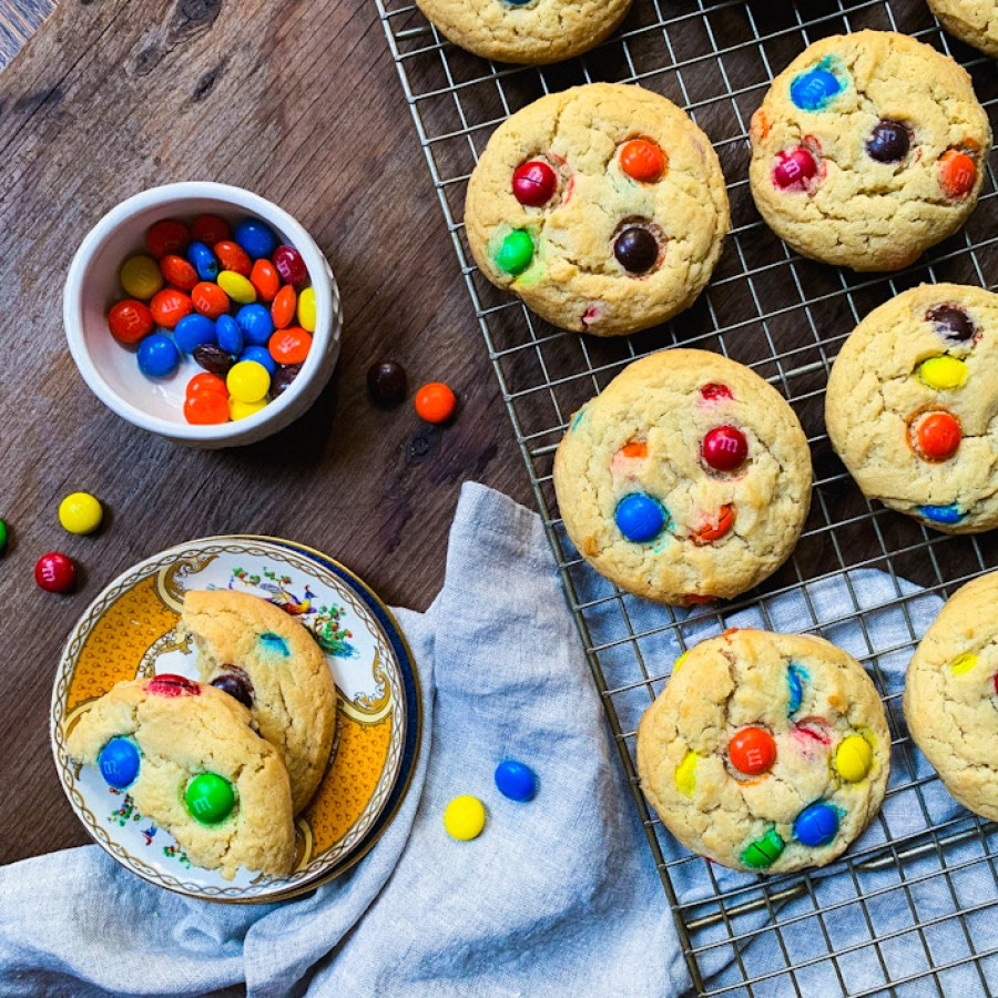 Brown Sugar M&M Cookies