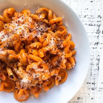 Creamy Tomato and Bacon Pasta