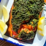 Grilled Cedar Plank Salmon with Herbs
