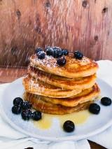 Blueberry Cinnamon Buttermilk Pancakes