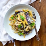 Veggie Pasta with Zucchini and Red Kale