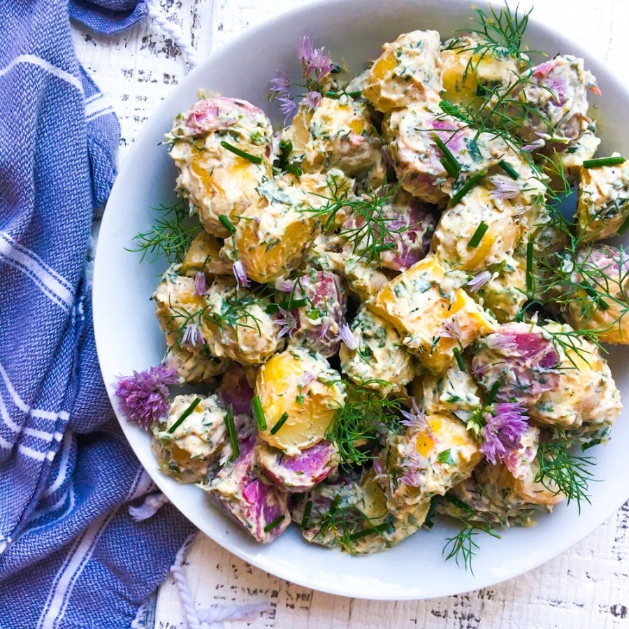 Truffle and Herb Potato Salad