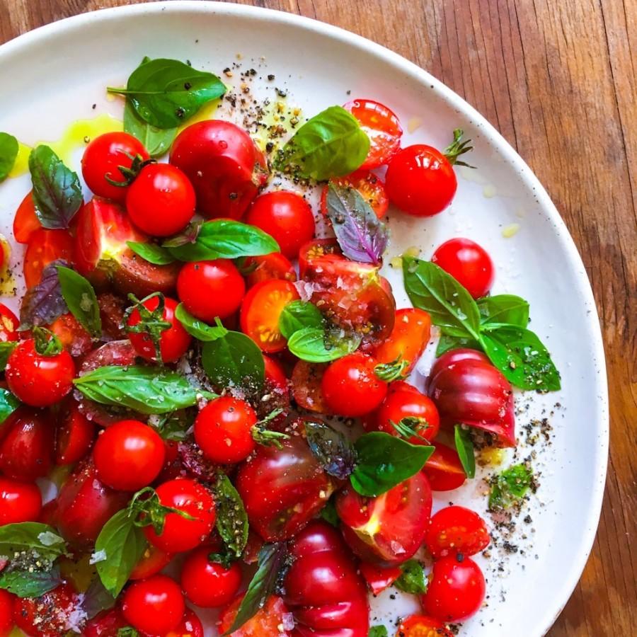 Heirloom and Baby Tomato Salad