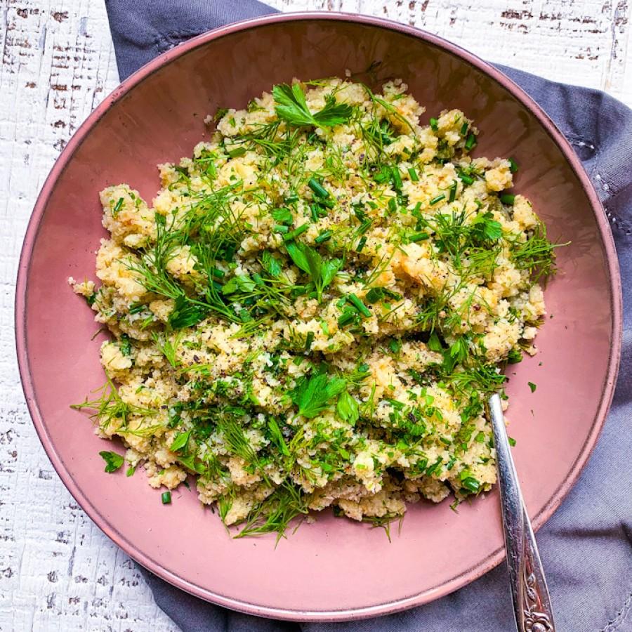 Garlic and Herb Cauliflower Rice