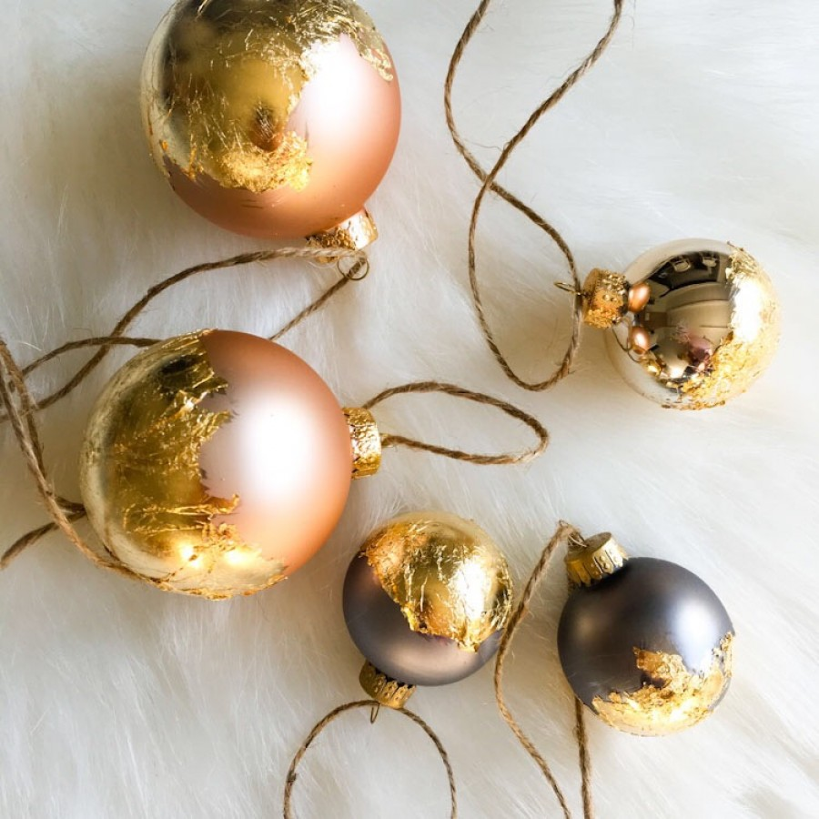Gold Leaf Ornaments
