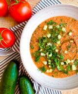 Summer Gazpacho with Herb Salad