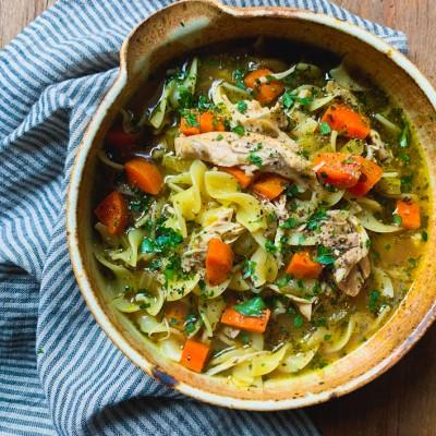 Bone Broth Chicken Noodle Soup