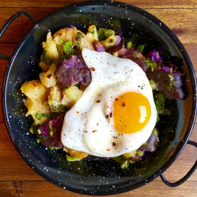 Smashed Potato Hash