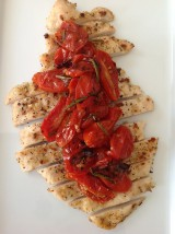 Garlic Chicken Breasts with Oven Roasted Tomatoes