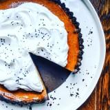 Dark Chocolate Pumpkin Tart