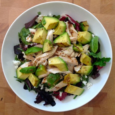 Grilled Avocado and Chicken Salad