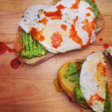Avocado Toasts with Over Easy Eggs