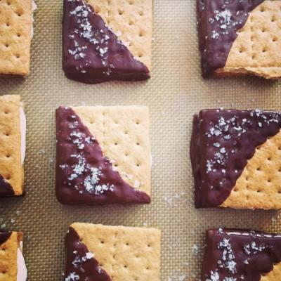 Dark Chocolate and Fleur de Sel S'mores