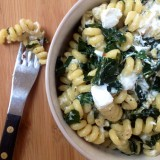 Spicy Kale and Goat Cheese Pasta