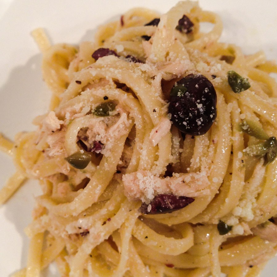 Linguine with Tuna, Capers and Olives