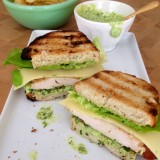 Grilled Chicken Sandwich with Avocado and Herbed Mayo
