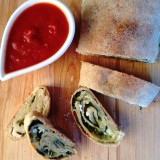 Spinach and Cheese Pizza Roll-Up