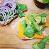 Avocado Sandwich with Spicy Mustard Mayo