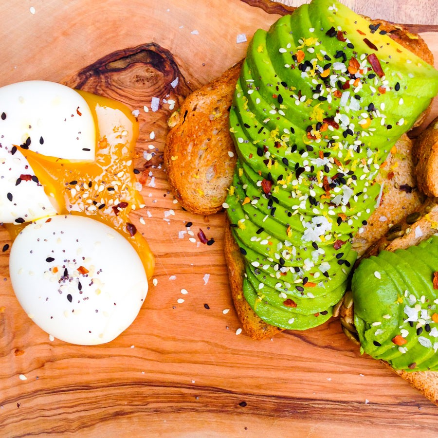 Avocado Toast with a 6-Minute Egg and Everything Salt