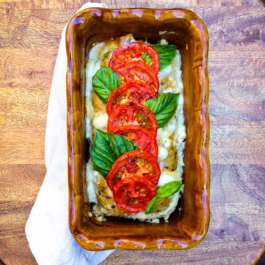 Caprese Turkey Meatloaf