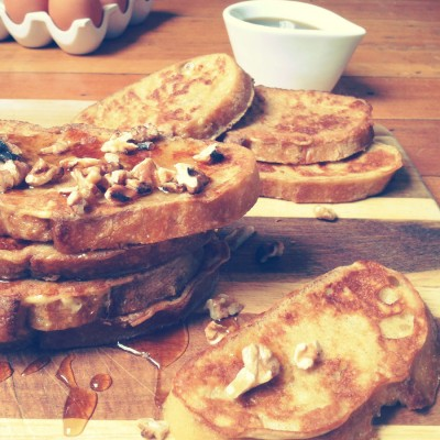 French Toast with Maple and Walnuts
