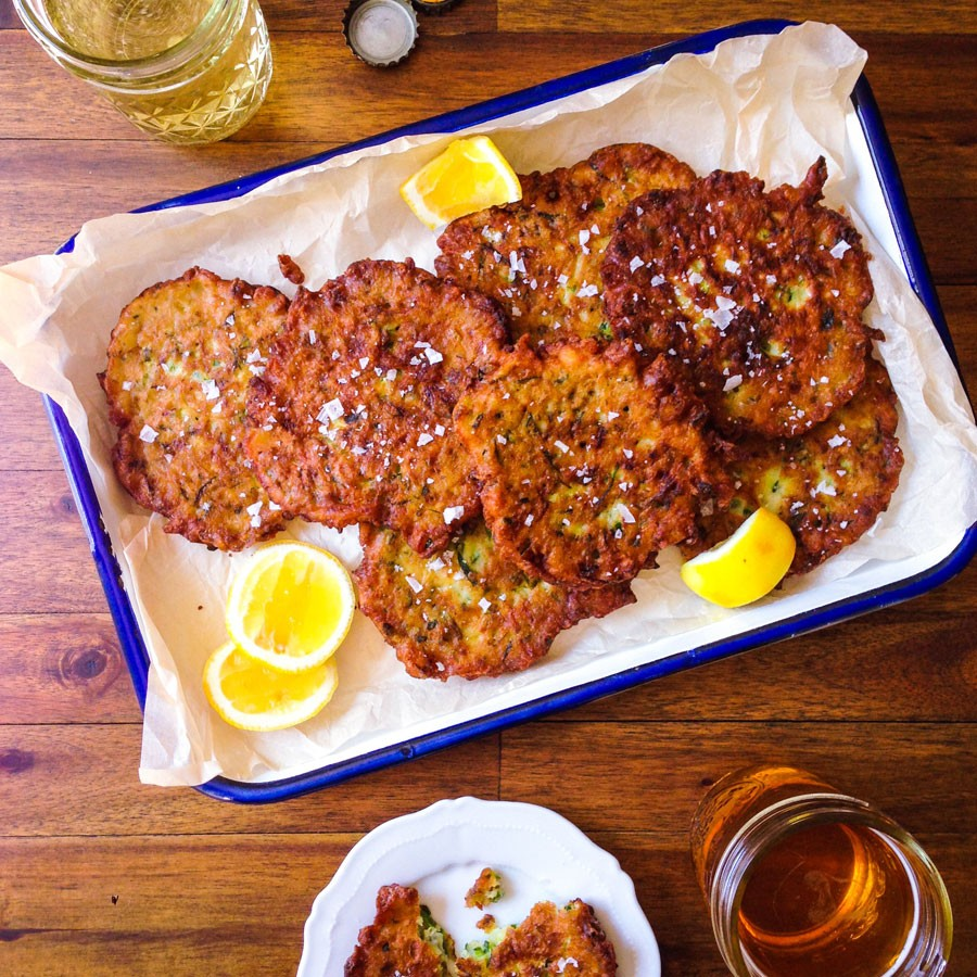Dill and Lemon Zucchini Pancakes