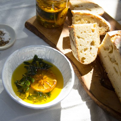 Charred Lemon and Oregano Oil