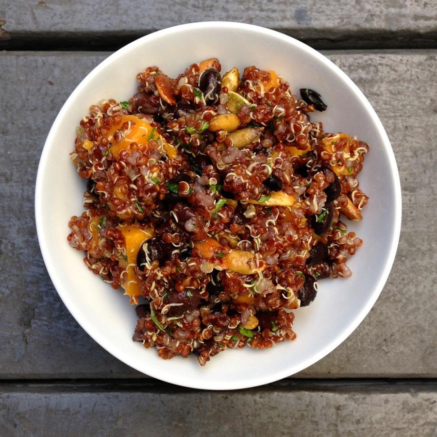Butternut Squash, Black Bean and Quinoa Salad
