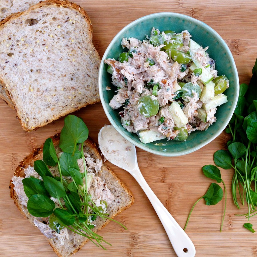 Chicken Salad with Apples, Grapes and Walnuts