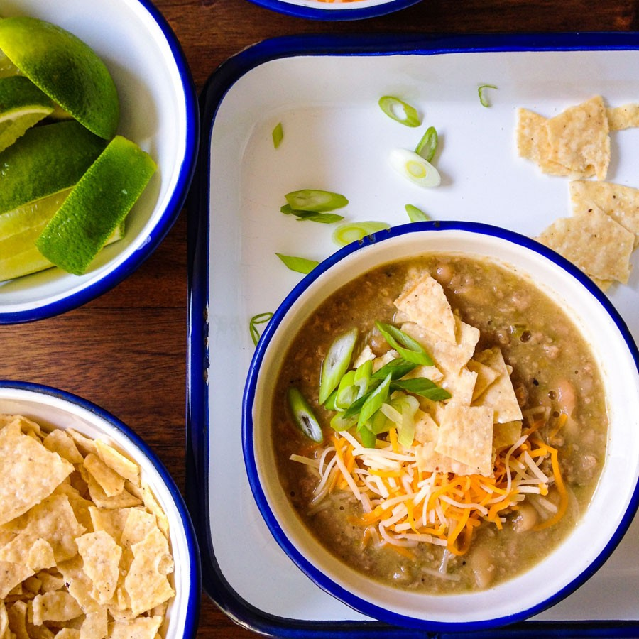 Turkey, Green Chile and White Bean Chili