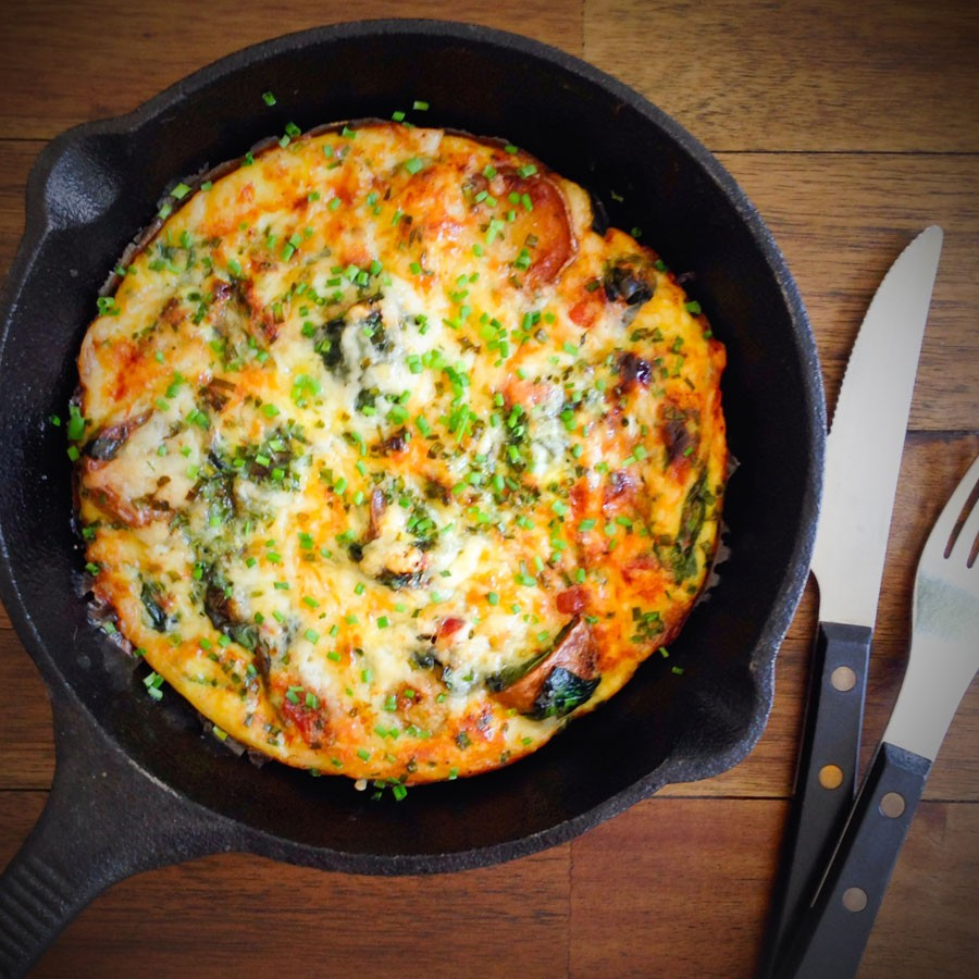 Bacon, Potato and White Cheddar Frittata