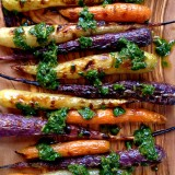 Grilled Heirloom Carrots with an Herb Dressing