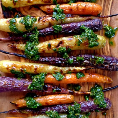 Grilled Heirloom Carrots with Herb Dressing