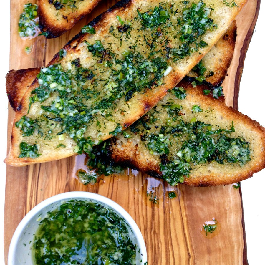 Garlic and Herb Grilled Breads