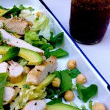 Grilled Chicken Salad with Herbs, Avocado and Garbanzo Beans