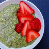 Matcha and Coconut Milk Chia Seed Pudding