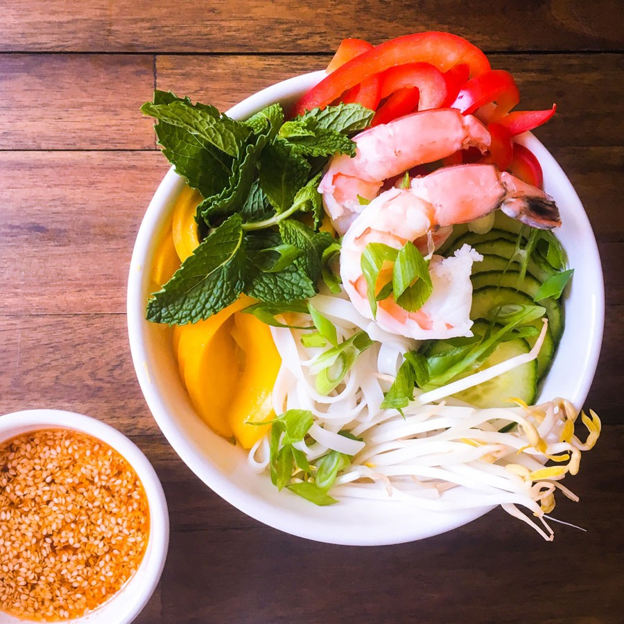 Spring Roll in a Bowl