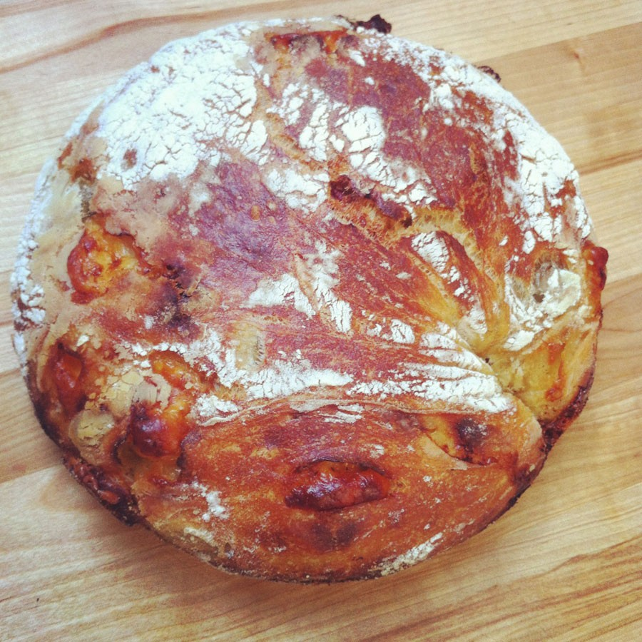 Olive, Cheese and Sundried Tomato Bread