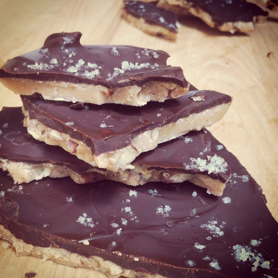 English Toffee with Dark Chocolate and Fleur de Sel