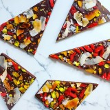 Toasted Coconut, Pistachio and Goji Berry Bark