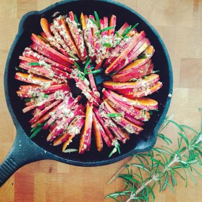 Rosemary and Garlic Roasted Sweet Potatoes