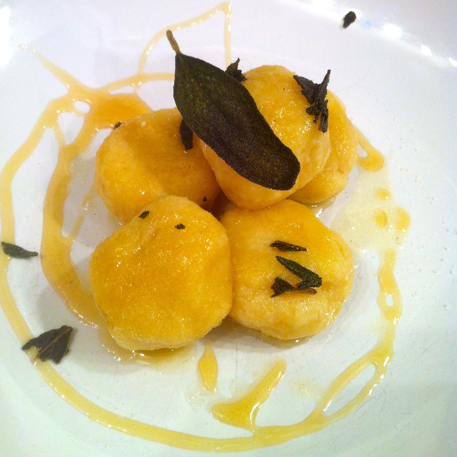 Ricotta Gnudi with Sage, Honey & Truffle Salt